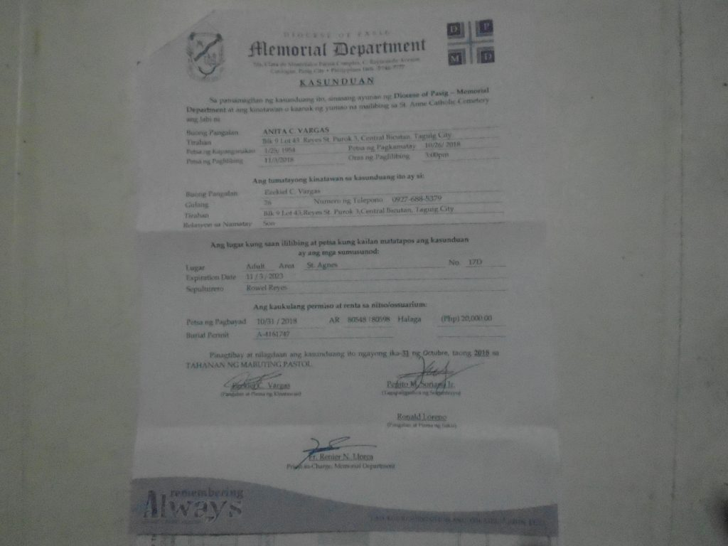 Funeral Contract